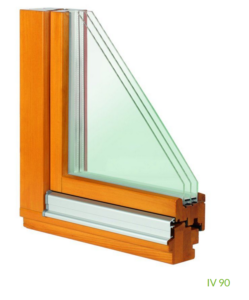 Holzfenster IV 90 (3-fach Verglasung)