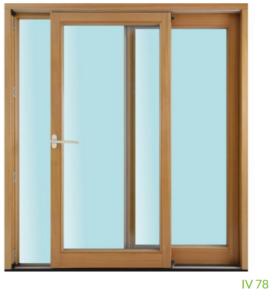Parallel-Schiebe-Tür IV 78 (3-fach Verglasung)