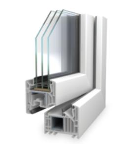 Kunststofffenster SL 82 MD (3-fach Verglasung)