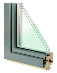 Holz-Aluminium-Fenster IV 78 Exclusiv (3-fach Verglasung)